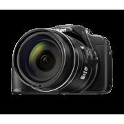 Цифров фотоапарат Nikon Bridge Coolpix P610, 16MP, 60x ултразуум с ръчни настройки, черен, червен