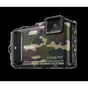 Водоустойчив и удароустойчив фотоапарат Nikon Coolpix AW130, 16MP, черен, оранжев, камуфлаж