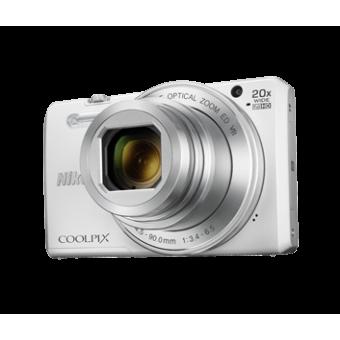 Цифров фотоапарат Nikon Super Zoom & Share Coolpix S7000, 16MP с калъф, бял и златист