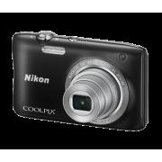 Цифров фотоапарат Nikon Standout Style Coolpix S2900, 20MP с калъф и карта памет 8GB, черен и сребрист