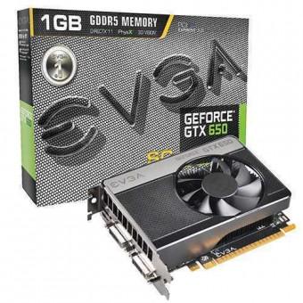Видеокарта nVidia EVGA e-GeForce GTX650SC GDDR5 1GB,  DVI-I, DVI-D, Mini-HDMI, 01G-P4-2652KR