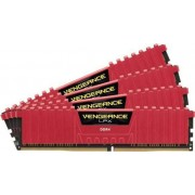 Corsair Vengeance LPX Red Heat spreader 4x4GB DDR4 2800MHz (CMK16GX4M4A2800C16R)