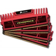 Corsair Vengeance Red Heatspreader 4x8GB DDR3 1866MHz (CMZ32GX3M4X1866C10R)