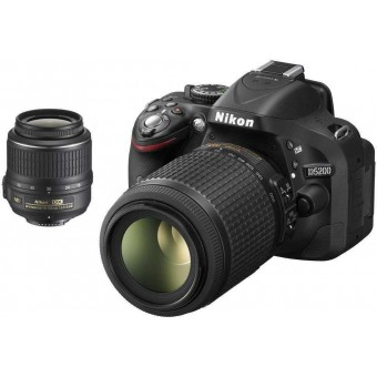 Nikon D5200+18-55MM VR II KIT+55-200MM VR+CF-EU05 BAG+SDHC 8GB CLASS 10