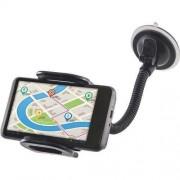 Стойка за телефон, таблет или навигация универсална, с гъвкава връзка до 7 инча, 55-120 мм
