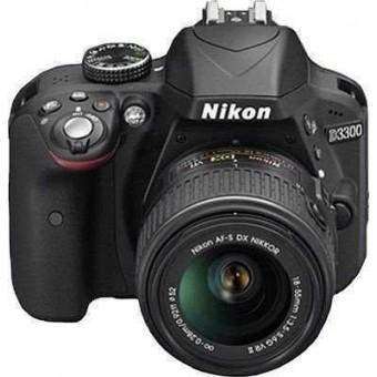 Nikon D3300 + Обектив 18-55VR + Карта 8GB (Class 10)
