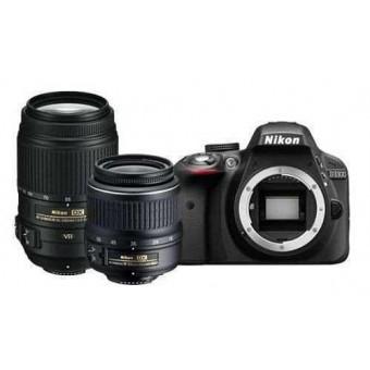 Nikon D3300 + Обектив 18-55VR + Обектив 55-300VR + Карта 8GB (Class 10)