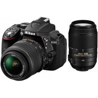 Nikon D5300 + Обектив 18-55VR + Обектив 55-300VR + Карта 8GB (Class 10)