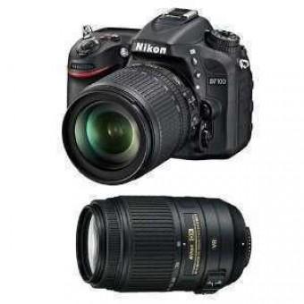 Nikon D7100 + Обектив 18-105VR + Обектив 55-300VR + Чанта CF-EU05 + Карта 8GB (Class 10)