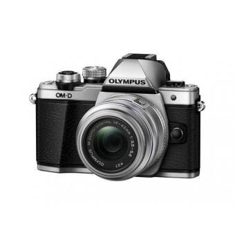Професионален фотоапарат Olympus OM-D E‑M10 Mark II, 16MP, тъч, Wi Fi контрол с обектив EZ-M1442 IIR, черен/сребрист
