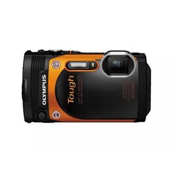 Цифров фотоапарат Olympus Stylus TG-860, 16MP, водоустойчив черен/бял/оранжев
